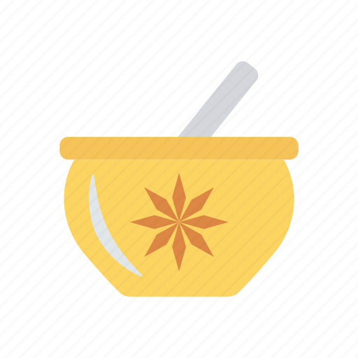bowl, food, mixing, soup, spoon icon
