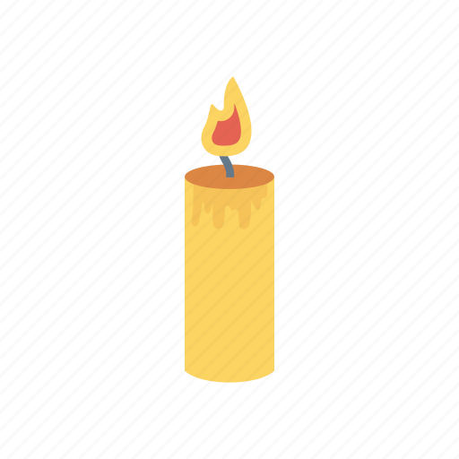 candle, flame, light, memorial, torch icon