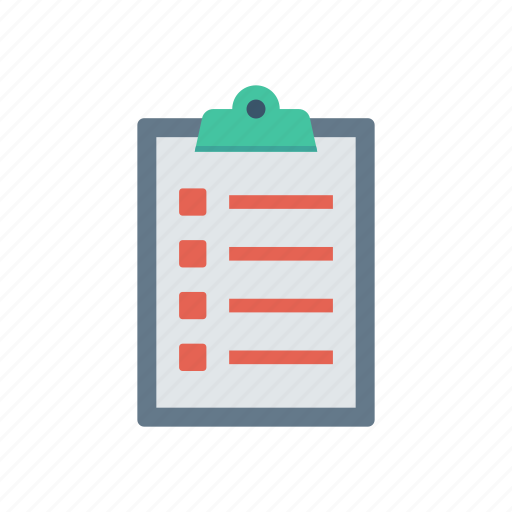 Clipboard, document, education, page, report icon - Download on Iconfinder