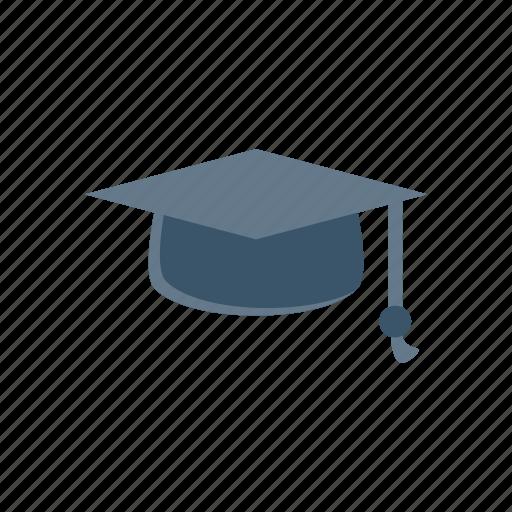 bachelor, education, graduation, hat, student icon