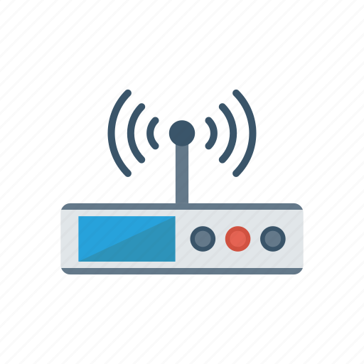 device, modem, router, technology, wireless icon