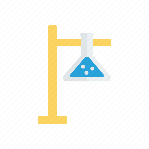 experiment, flask, practical, science, stand icon