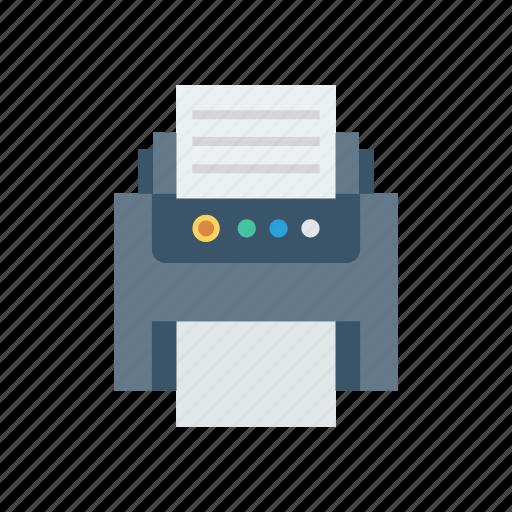 fax, machine, paper, print, printer icon