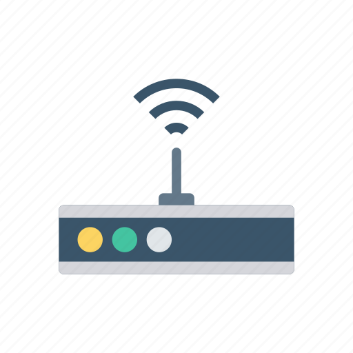 device, modem, router, signal, wireless icon