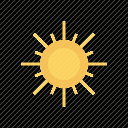 bright, shine, summer, sun, weather icon