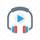headphone, headset, music, song, support icon