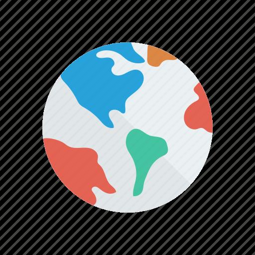 Planet, earth, globe, global, world icon