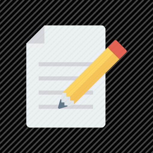 create, document, edit, pencil, write icon