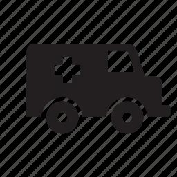 ambulance, hospital, transport icon