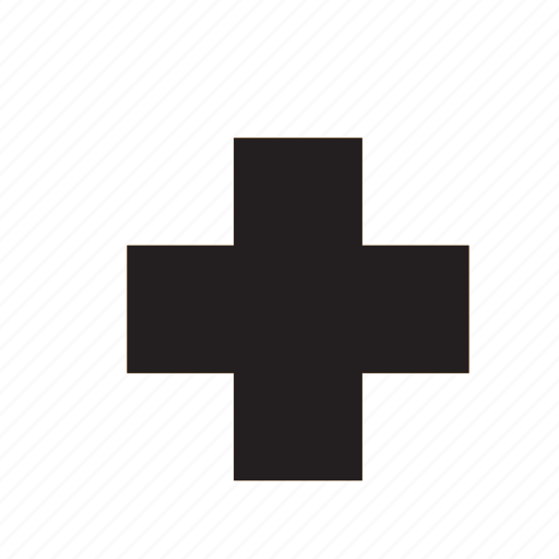 cross, hospital icon