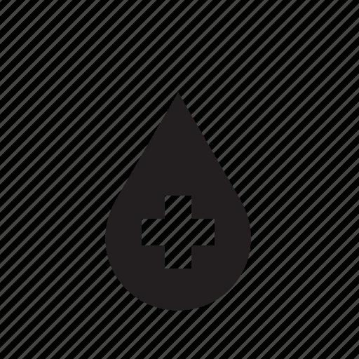 cross, drop, droplet, hospital icon