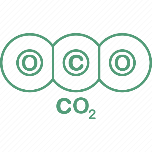 co2, equation, formula, science, testing icon