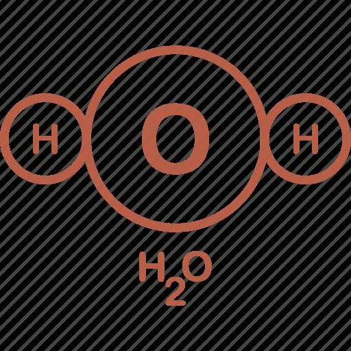 equation, formula, h2o, science, testing icon