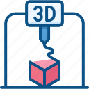 3d printer, machine, print, printing icon icon