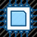 chip, computer, cpu, electronics, hardware, microchip, processor icon icon