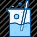 beaker, chemical bottle, glass beaker, jar, lab, lab beaker, lab test, measuring cup icon, test icon