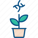 biology, dna, genetic, gmo, plant, spiral, technology icon icon