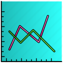 analytics, diagrams, graph, science icon