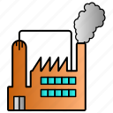 factory, industry, organization, science icon