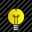 idea, lamp, light, science icon