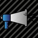 loudspeaker, science, sound, speaker icon