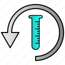 refresh, reload, science icon