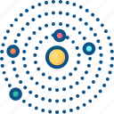 astronomy, galaxy, planet, planets, solar system icon icon