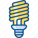 bulb, cfl, energy, environment, lamp, light icon icon