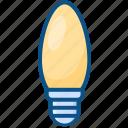 bulb, candle bulb, decoration, led bulb, light bulb icon icon