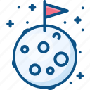 astronomy, flag, moon, space icon icon