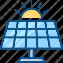 battery, eco, energy, future, generator, panels, science, solar, sun icon icon