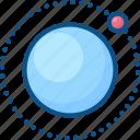 ecuator, location, moon, orbit, satellite, sputnik icon icon