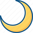 calendar, clear, crescent, lunar, moon, night, weather icon icon