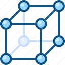 connections, dependency, interaction, molecular, relations, structure icon icon