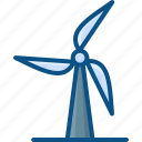 wind energy, wind power, wind turbine, windmill, windmill tower icon icon