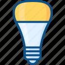 bulb, lamp, led, light, light bulb, lightning icon icon
