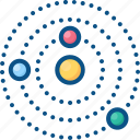 astronomy, galaxy, planets, solar system icon icon