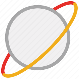 planet, saturn, space, world icon
