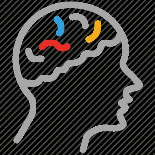 brain, head, human brain, human head, mind icon