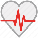 heartbeat, human heart, pulsation, pulse icon