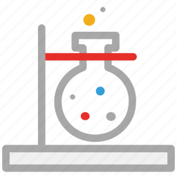 experiment, flask stand, laboratory, test icon