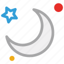 forecast, moon, night, stars icon