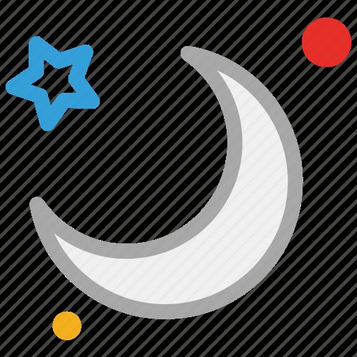 forecast, moon, night, stars icon