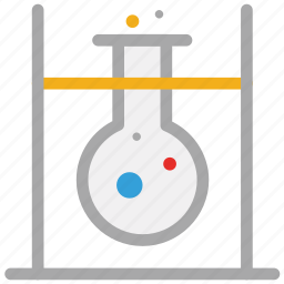 flask, flask stand, lab test, laboratory test icon