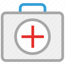 first aid bag, first aid kit, medical bag, medicines icon