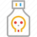 danger, death, poison, warning icon