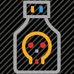 danger, death, poison, warning icon