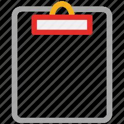clipboard, document, list, report icon