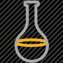 beaker, flask, lab equipment, lab test icon