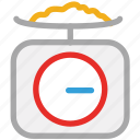 experiment, lab test, weight, weight machine icon